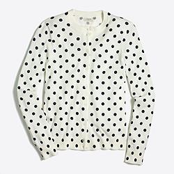 Polka-dot Caryn cardigan sweater