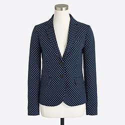 Polka-dot schoolboy blazer in linen-cotton