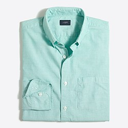 Washed shirt in end-on-end cotton