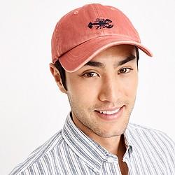 Garment-dyed baseball cap