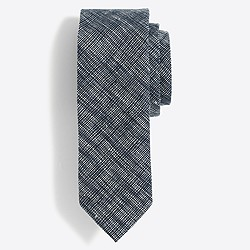 Cotton-linen textured tie