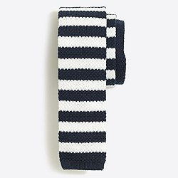 Knit striped tie