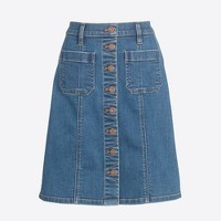 Foxy wash denim skirt
