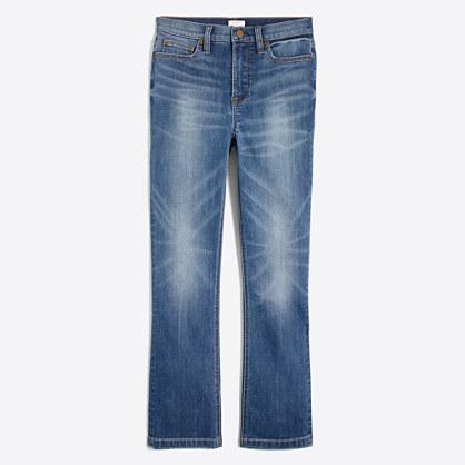 Prairie wash demi-boot crop jean