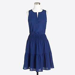 Solid sleeveless tiered dress