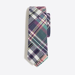 Boys' summer plaid patchwork tie