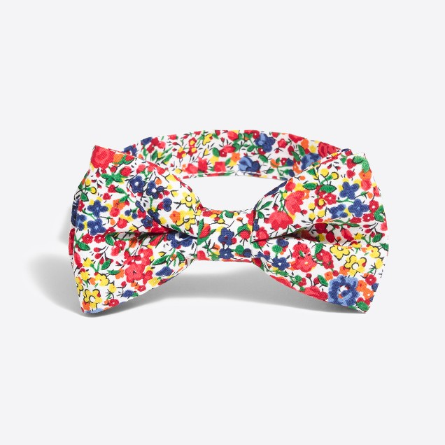 Boys' printed floral bow tie