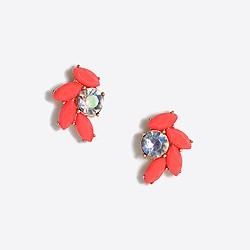 Gemstone feather earrings