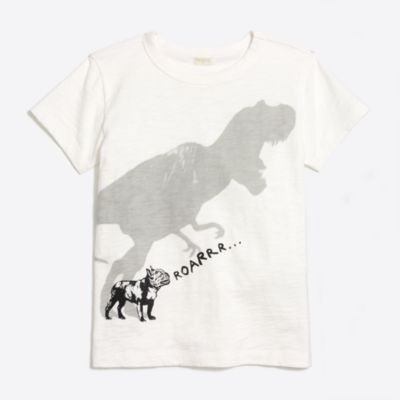 Boys' dino shadow storybook T-shirt