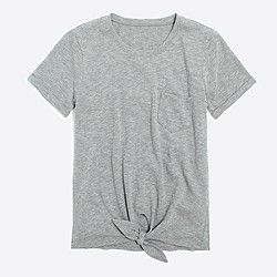 Tie-waist pocket T-shirt