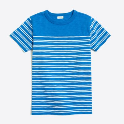 Boys' placed double-stripe T-shirt