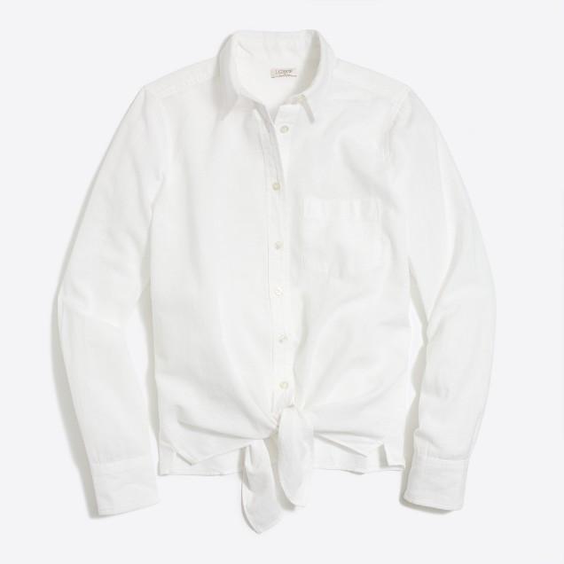 Tie-waist shirt