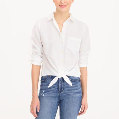 Tie-waist shirt factorywomen shirts & tops c