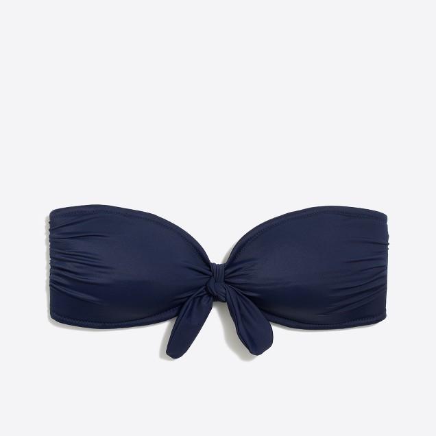 Tie-front bandeau top