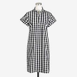 Gingham shirtdress