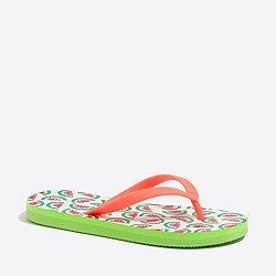 Girls' printed critters flip-flop