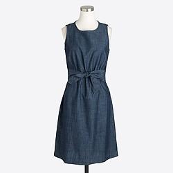 Chambray zip-back dress