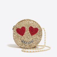 Girls' glitter heart eyes bag