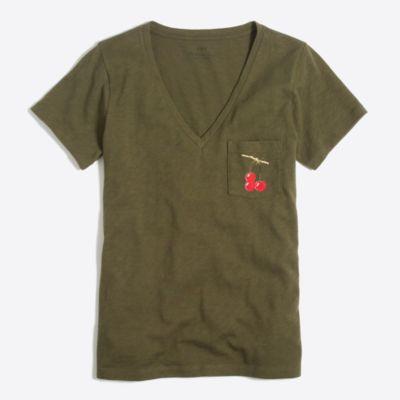 Cherry collector pocket T-shirt