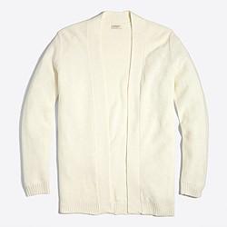 Linen-cotton yoga cardigan sweater