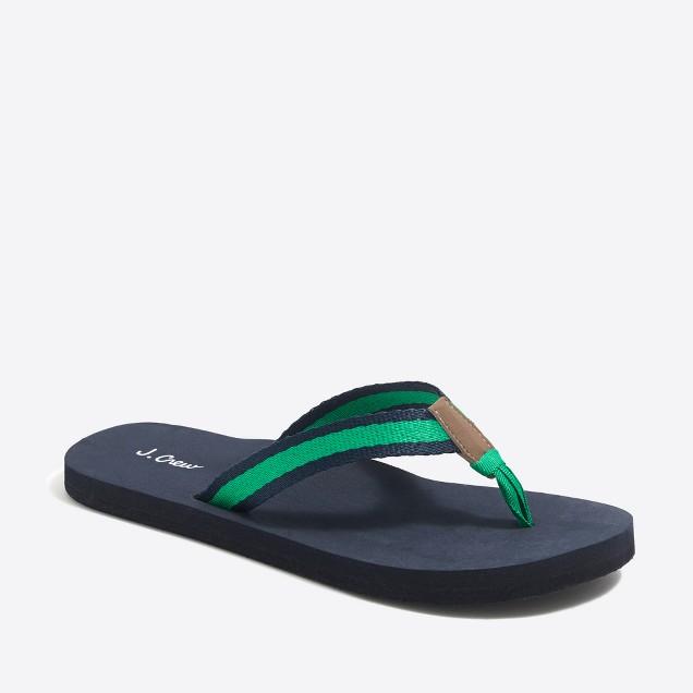 Striped flip-flops