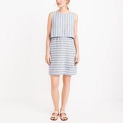 Open-back linen-cotton dress