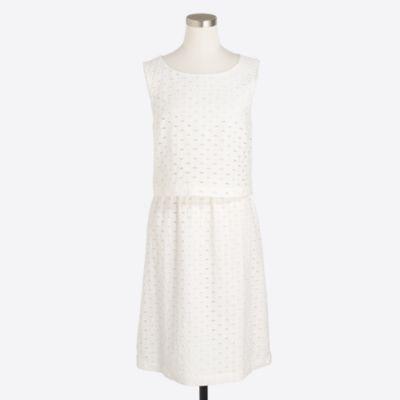 Eyelet waisted dress