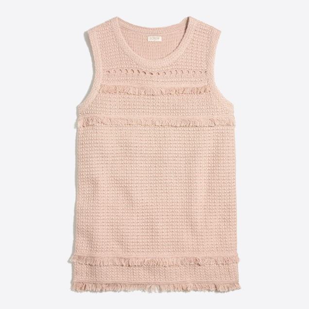 Fringe sweater-tank