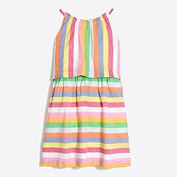 Girls' two-tier candy stripe dress