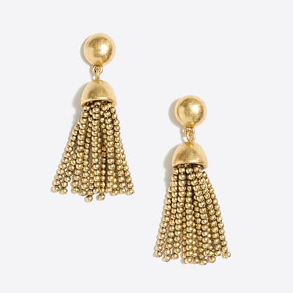 Golden drop tassel earring