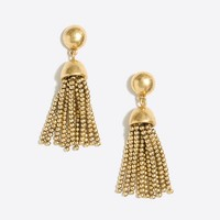 Golden drop tassel earring