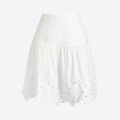 Eyelet floral mini skirt