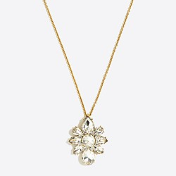 Crystal flower pendant necklace