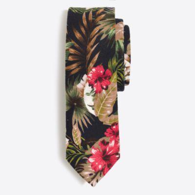 Cotton floral tie