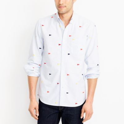 Slim printed oxford shirt