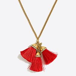 Multi thread tassel pendant necklace