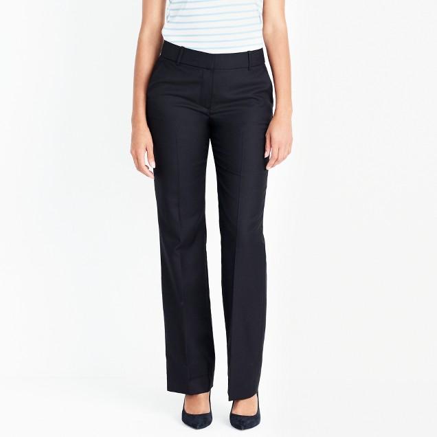 Petite lightweight wool trouser