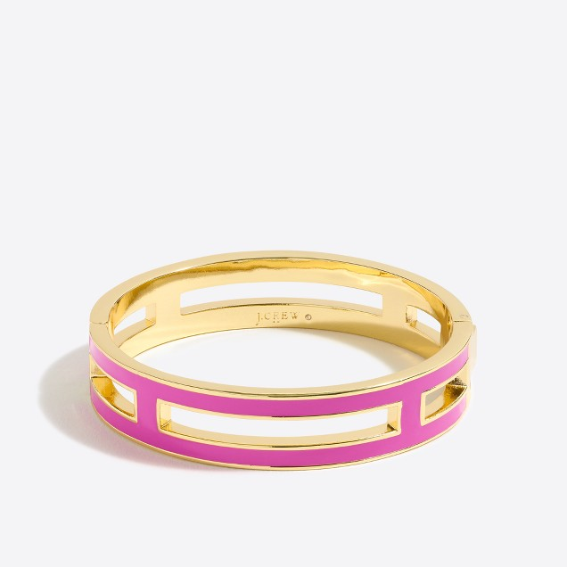 Enamel cutout bangle