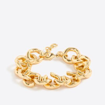 Gold link bracelet factorywomen dress-up shop c