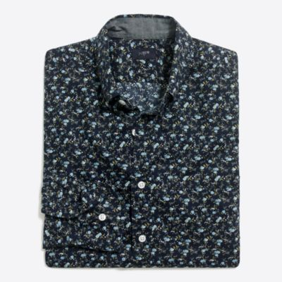 Printed washed shirt factorymen casual shirts c