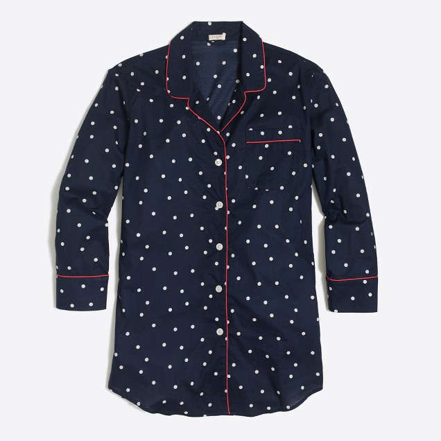 Polka dotted pajama sleep shirt