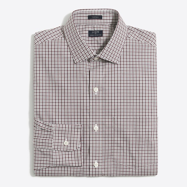 Slim flex multi-gingham shirt