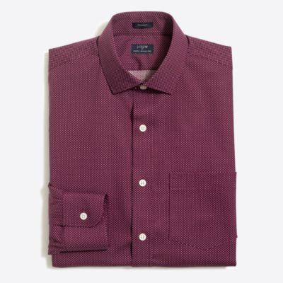 Printed flex wrinkle-free Voyager dress shirt