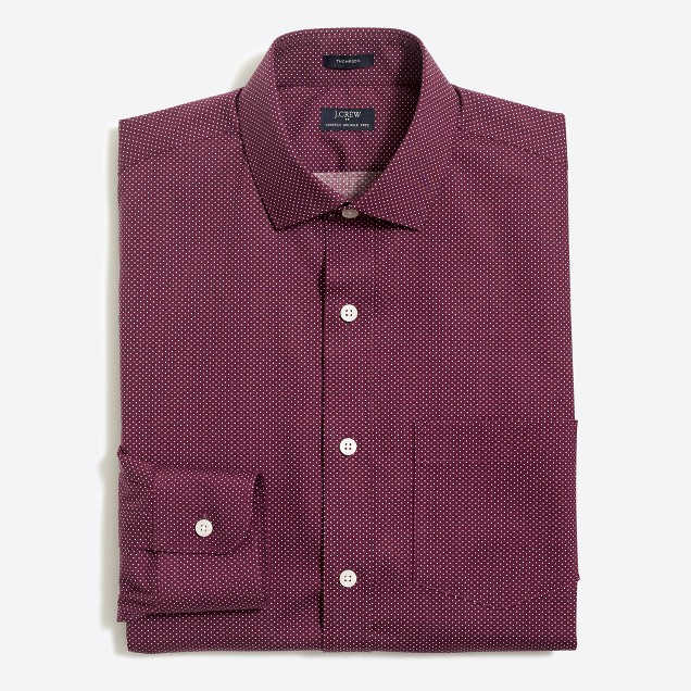 Printed flex wrinkle-free Voyager dress shirt