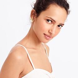 Sequin flower stud earrings