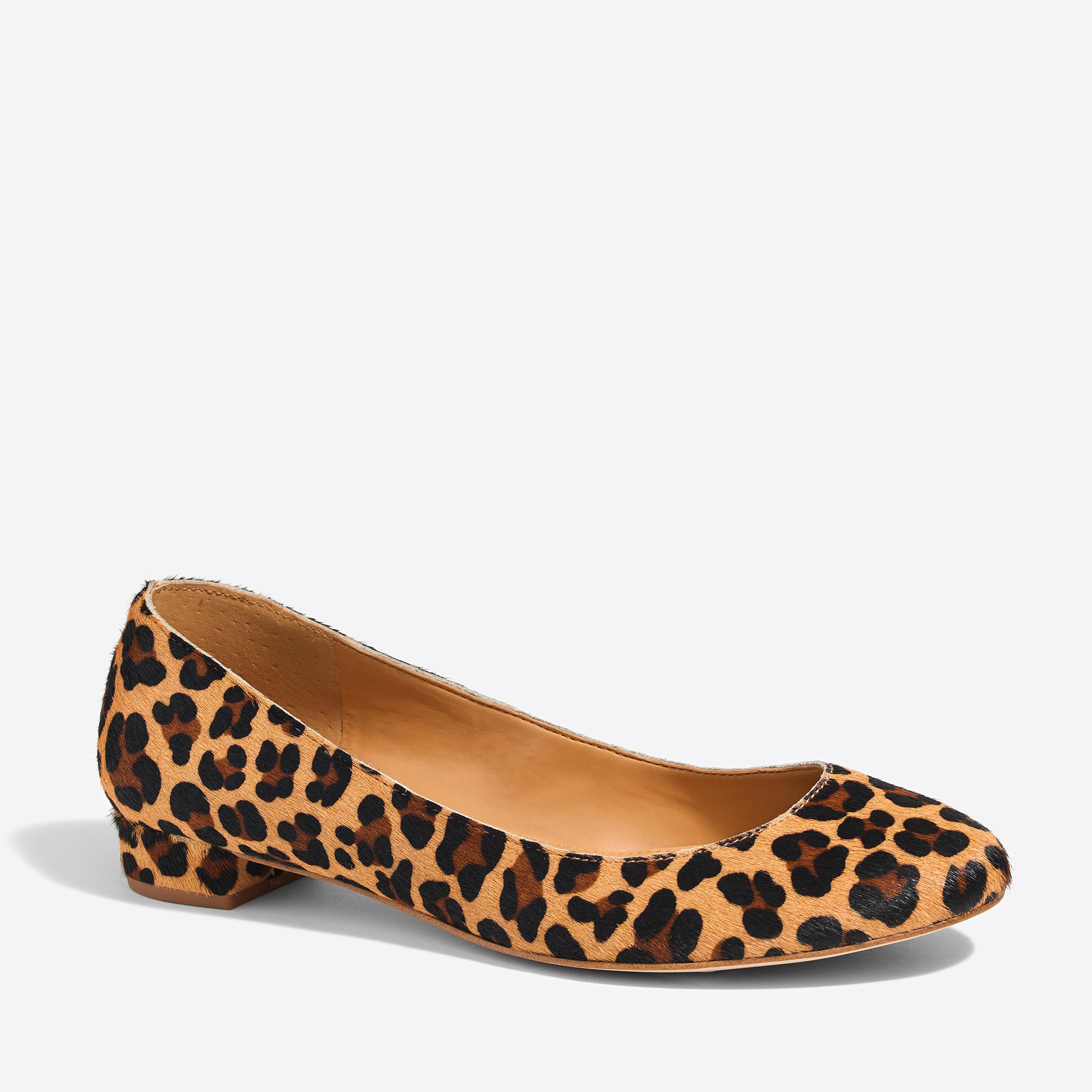 Lily Calf Hair Covered Heel Flats Factorywomen Occasion