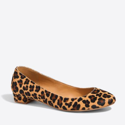 Lily calf hair covered-heel flats