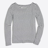 Long-sleeve striped artist T-shirt