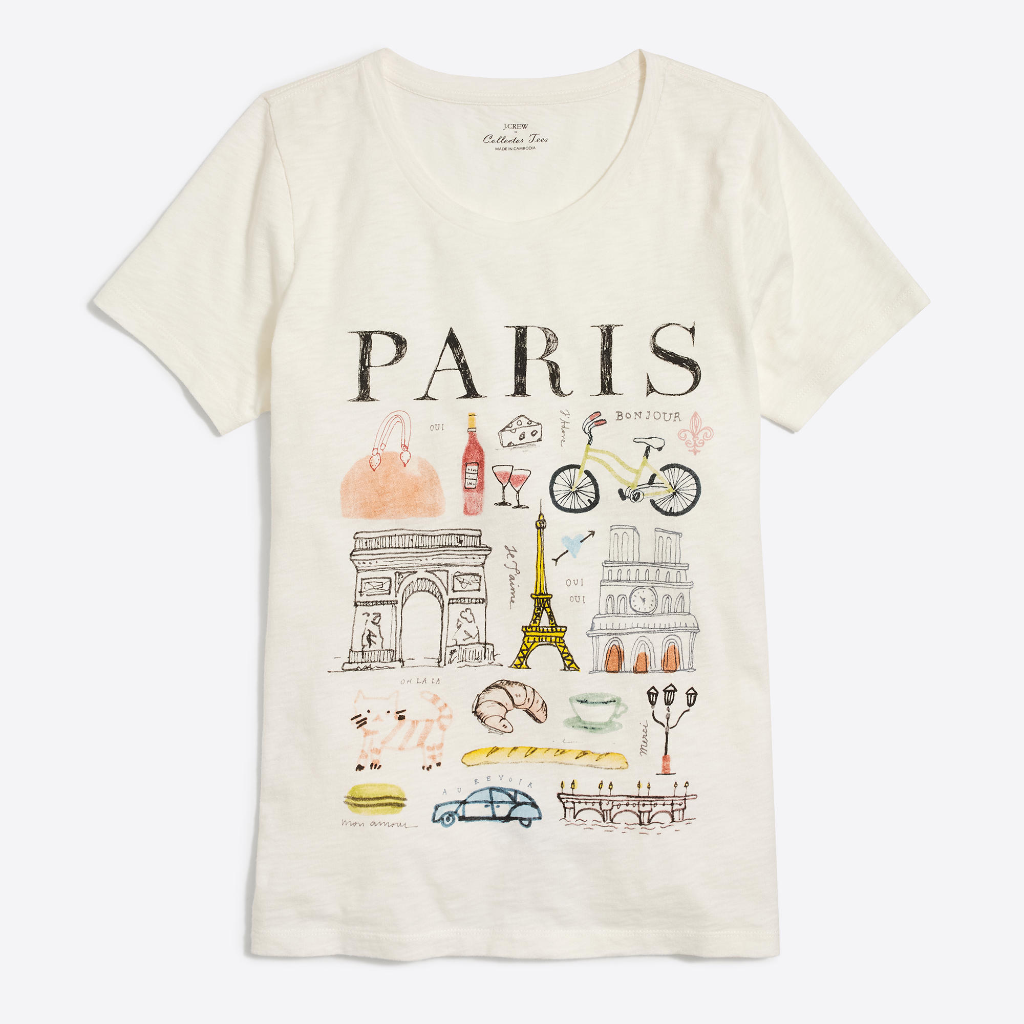 paris collector t shirt factorywomen graphic collector. Black Bedroom Furniture Sets. Home Design Ideas