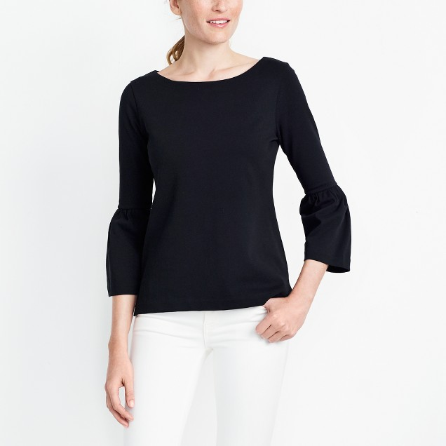 Bell-sleeve T-shirt